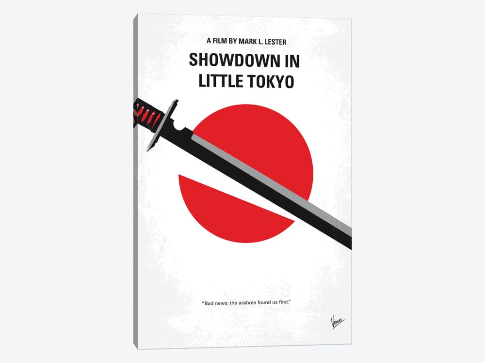 Showdown In Little Tokyo Minimal Movie Poster by Chungkong 1-piece Canvas Wall Art