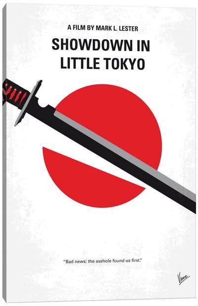 Showdown In Little Tokyo Minimal Movie Poster Canvas Art Print