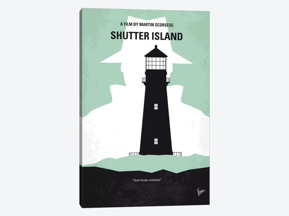 Shutter Island Minimal Movie Poster by Chungkong 1-piece Canvas Art Print