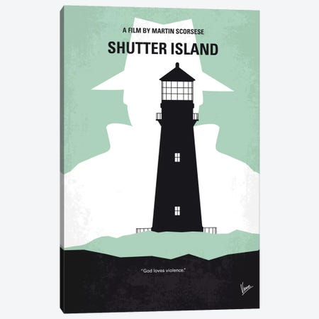 Shutter Island Minimal Movie Poster Canvas Print #CKG619} by Chungkong Canvas Wall Art