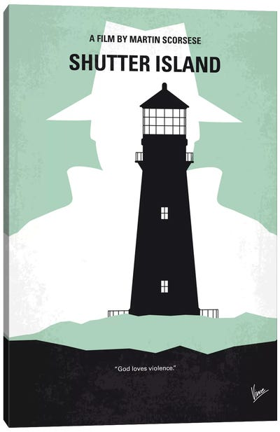 Shutter Island Minimal Movie Poster Canvas Art Print