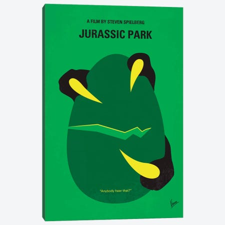 Jurassic Park Minimal Movie Poster Canvas Print #CKG61} by Chungkong Art Print