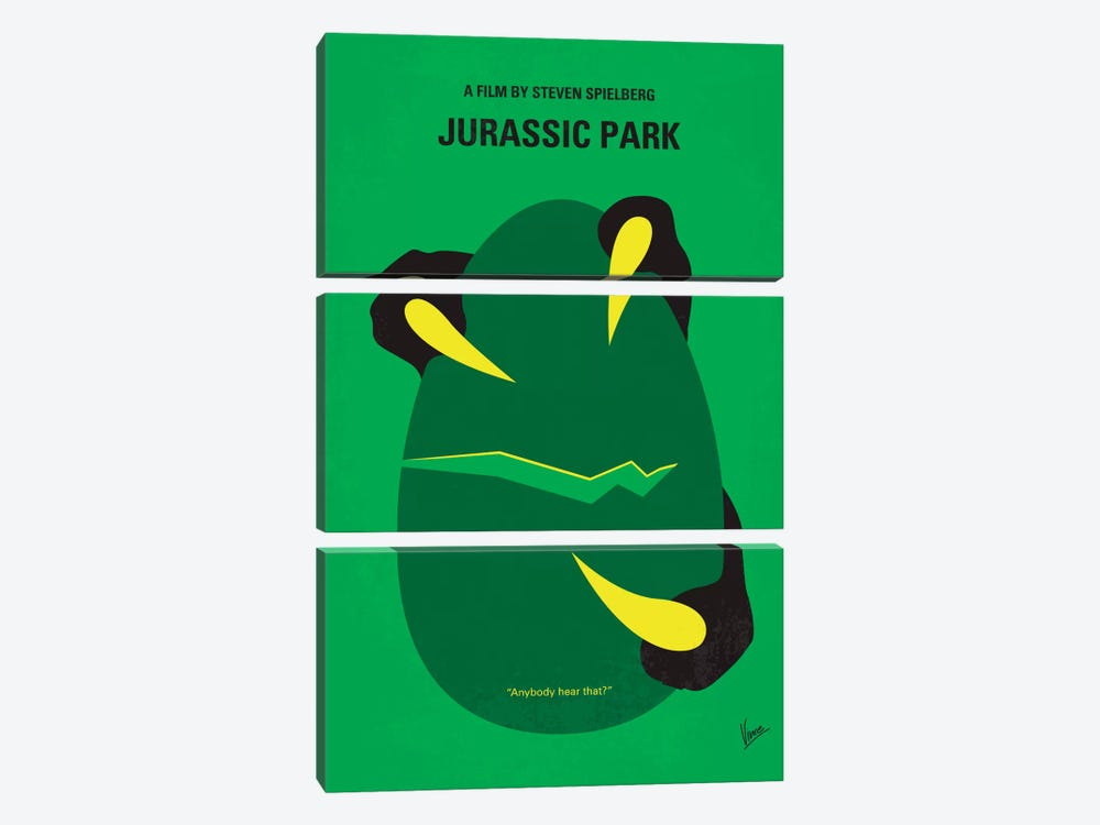 Jurassic Park Minimal Movie Poster by Chungkong 3-piece Canvas Art
