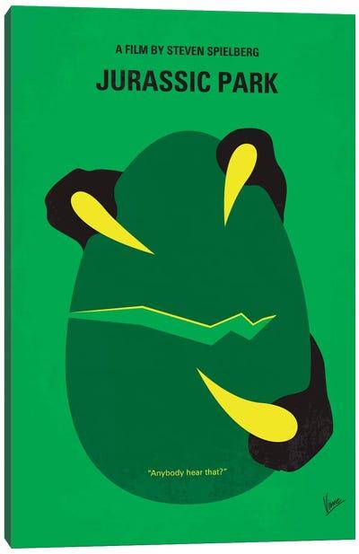 Jurassic Park Minimal Movie Poster Canvas Art Print