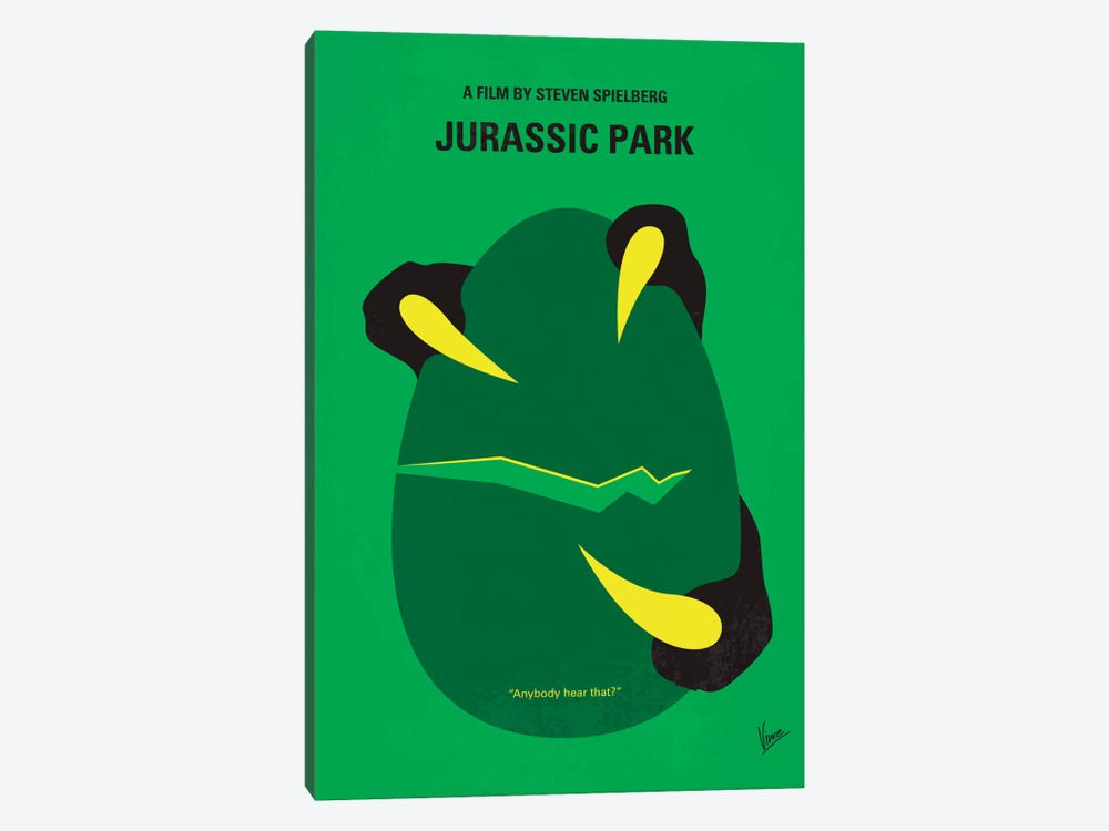 Jurassic Park Minimal Movie Poster by Chungkong 1-piece Canvas Artwork