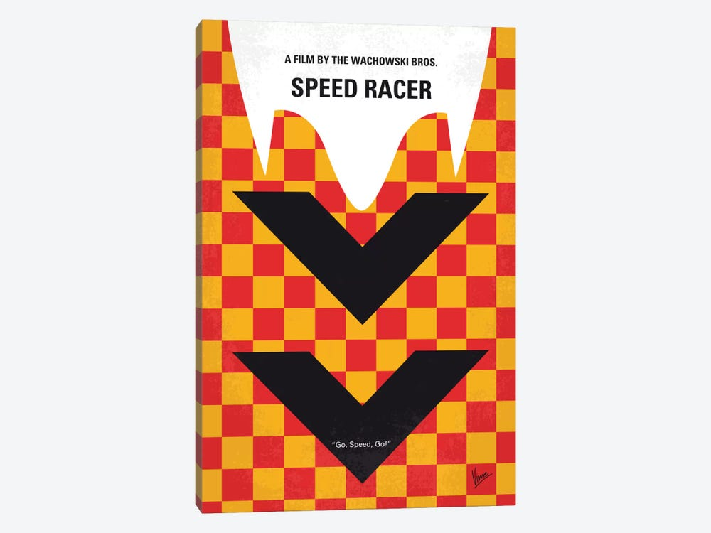 Speed Racer Minimal Movie Poster by Chungkong 1-piece Art Print