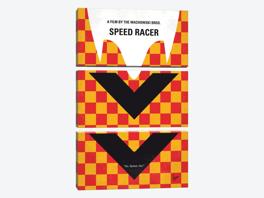Speed Racer Minimal Movie Poster by Chungkong 3-piece Art Print
