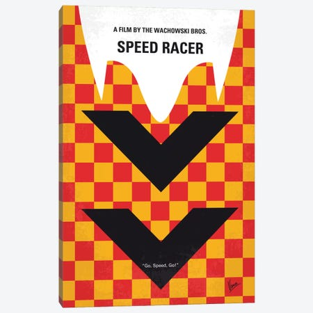 Speed Racer Minimal Movie Poster Canvas Print #CKG624} by Chungkong Canvas Artwork