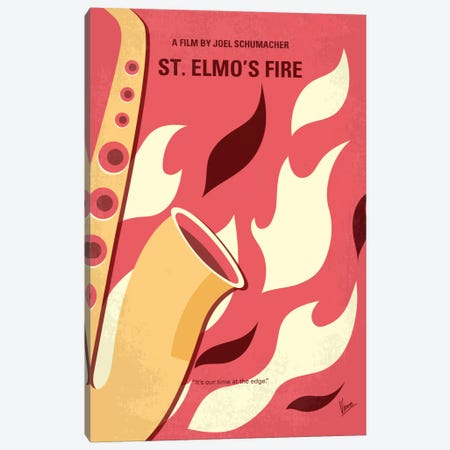 St. Elmo's Fire Minimal Movie Poster Canvas Print #CKG627} by Chungkong Canvas Artwork