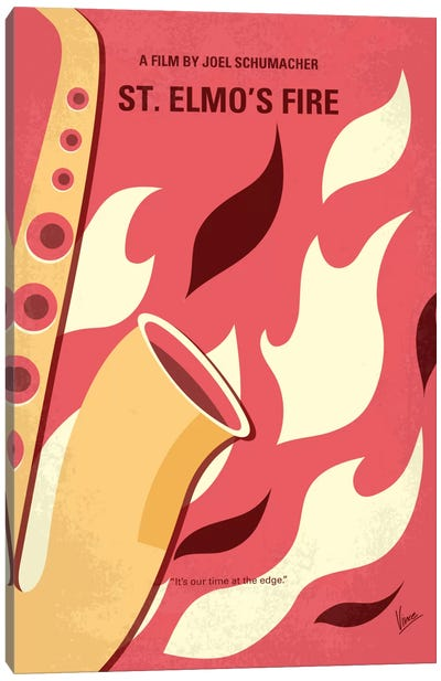 St. Elmo's Fire Minimal Movie Poster Canvas Print #CKG627