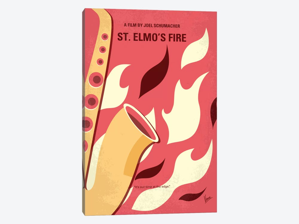 St. Elmo's Fire Minimal Movie Poster by Chungkong 1-piece Canvas Wall Art