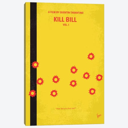 Kill Bill Vol. 1 Minimal Movie Poster Canvas Print #CKG62} by Chungkong Canvas Print