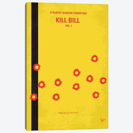 Kill Bill Vol. 1 Minimal Movie Poster 3-Piece Canvas #CKG62} by Chungkong Canvas Print
