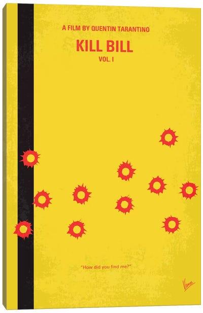 Kill Bill Vol. 1 Minimal Movie Poster Canvas Art Print