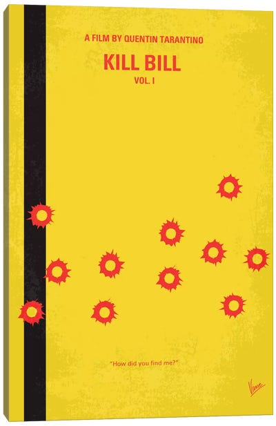 Kill Bill Vol. 1 Minimal Movie Poster Canvas Art Print
