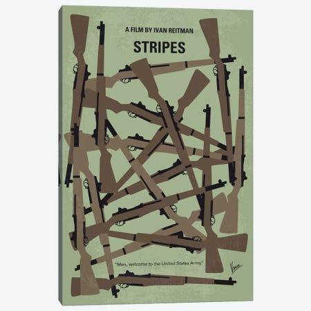 Stripes Minimal Movie Poster Canvas Print #CKG630} by Chungkong Canvas Wall Art