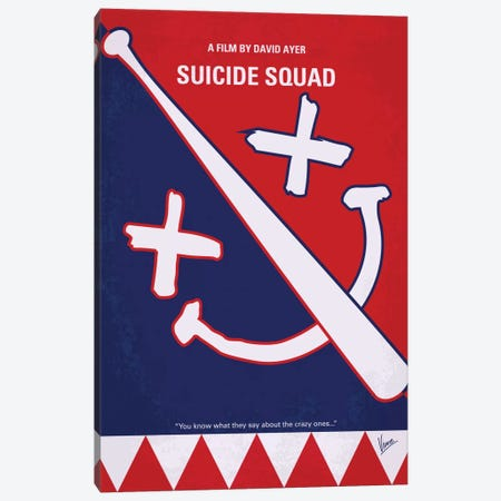Suicide Squad Minimal Movie Poster Canvas Print #CKG631} by Chungkong Canvas Art