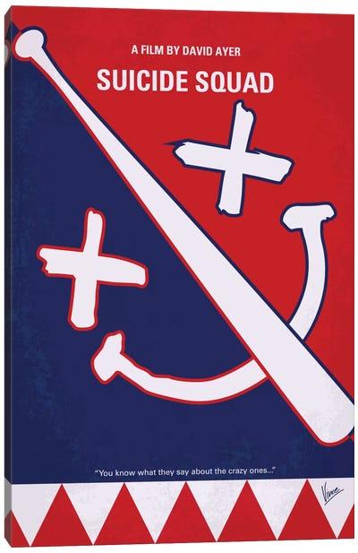 Suicide Squad Minimal Movie Poster Canvas Art Print