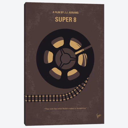 Super 8 Minimal Movie Poster Canvas Print #CKG632} by Chungkong Canvas Art