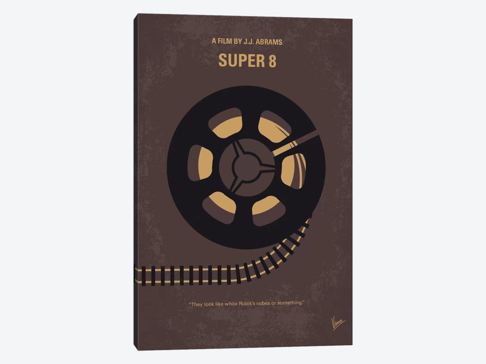 Super 8 Minimal Movie Poster by Chungkong 1-piece Canvas Artwork