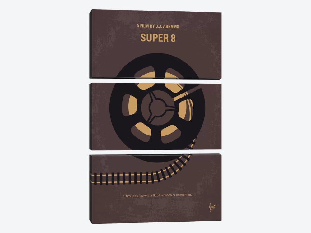 Super 8 Minimal Movie Poster by Chungkong 3-piece Canvas Art