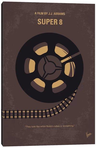 Super 8 Minimal Movie Poster Canvas Art Print
