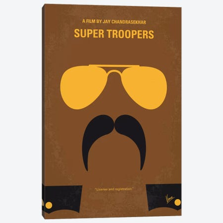 Super Troopers Minimal Movie Poster Canvas Print #CKG633} by Chungkong Canvas Art