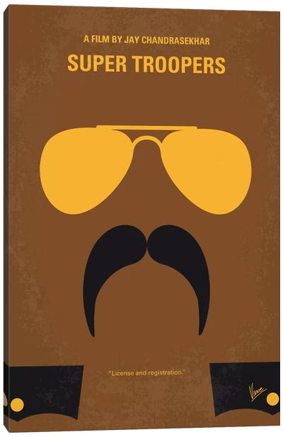 Super Troopers Minimal Movie Poster Canvas Art Print