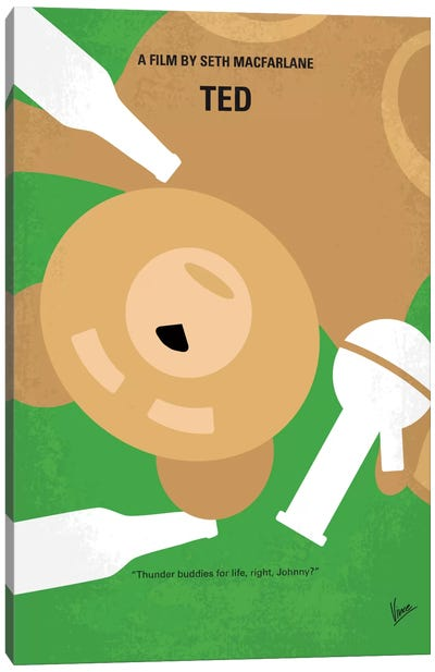 Ted Minimal Movie Poster Canvas Art Print