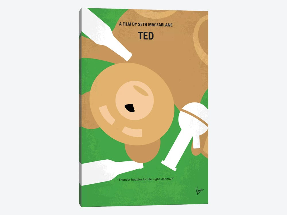 Ted Minimal Movie Poster by Chungkong 1-piece Canvas Print
