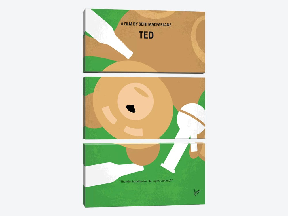 Ted Minimal Movie Poster by Chungkong 3-piece Art Print