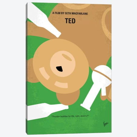 Ted Minimal Movie Poster Canvas Print #CKG635} by Chungkong Art Print
