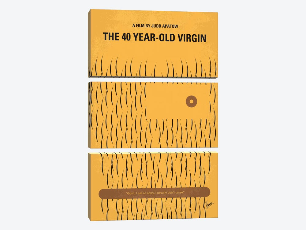 The 40 Year Old Virgin Minimal Movie Poster by Chungkong 3-piece Canvas Art