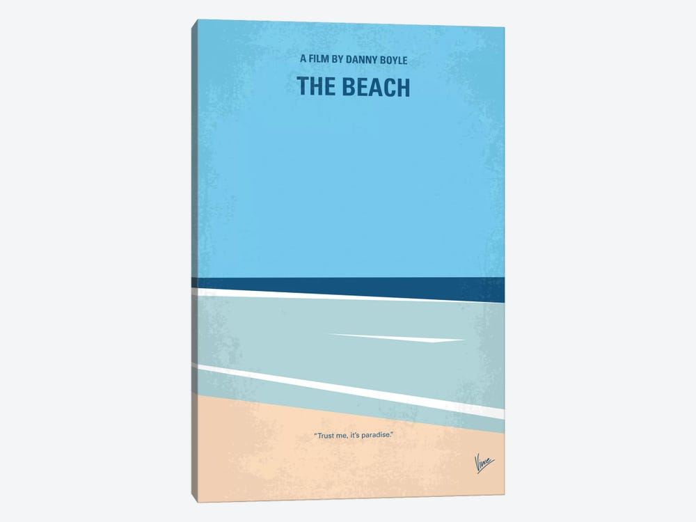 The Beach Minimal Movie Poster 1-piece Canvas Print