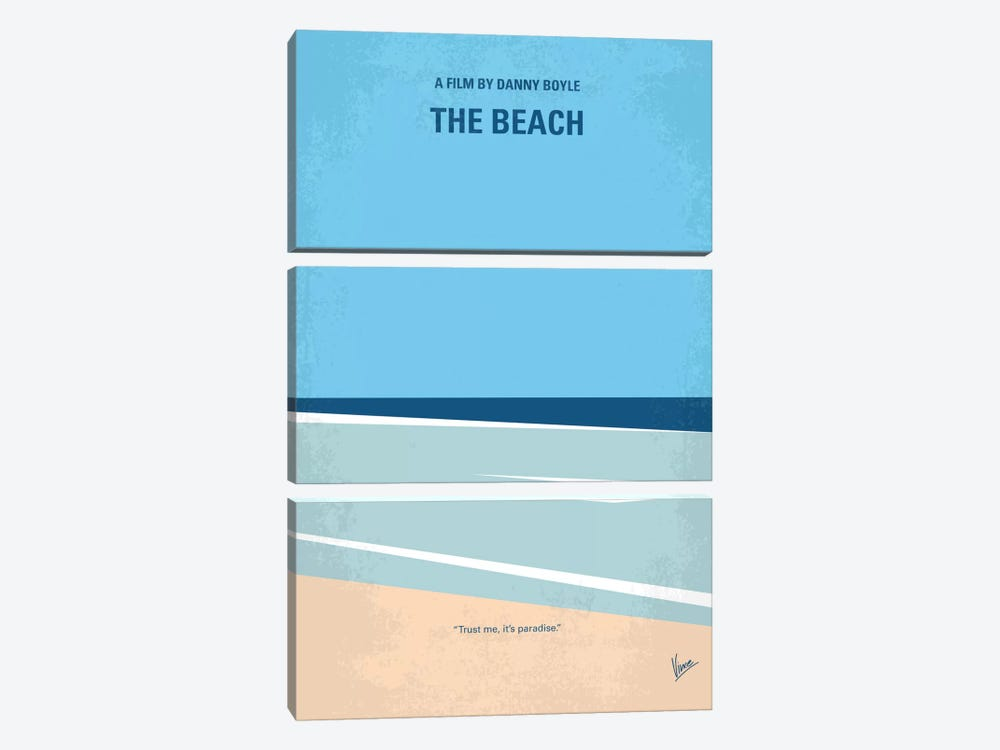 The Beach Minimal Movie Poster 3-piece Art Print