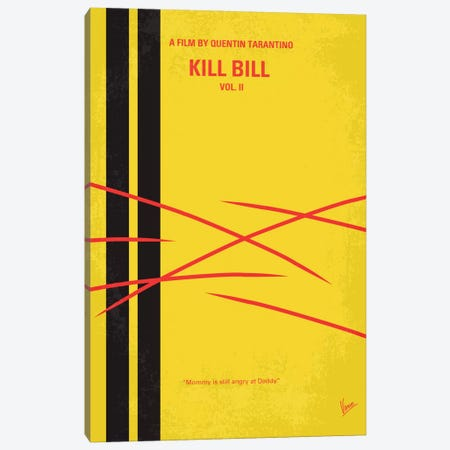 Kill Bill Vol. 2 Minimal Movie Poster Canvas Print #CKG63} by Chungkong Canvas Print