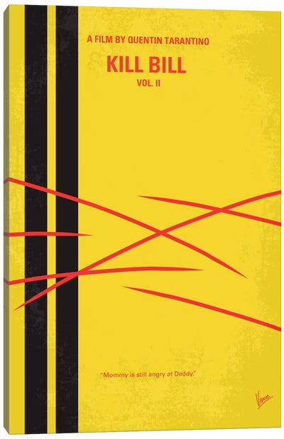 Kill Bill Vol. 2 Minimal Movie Poster Canvas Art Print