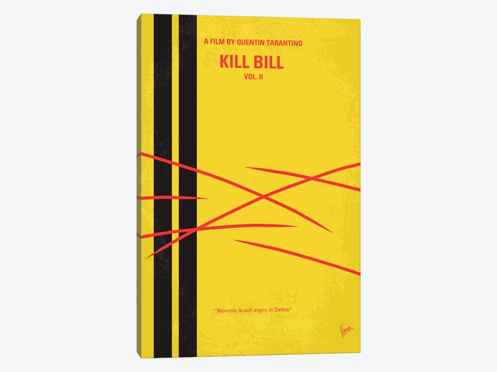Kill Bill Vol. 2 Minimal Movie Poster by Chungkong 1-piece Canvas Art