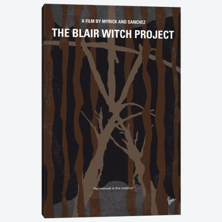 The Blair Witch Project Minimal Movie Poster Canvas Print #CKG640} by Chungkong Art Print