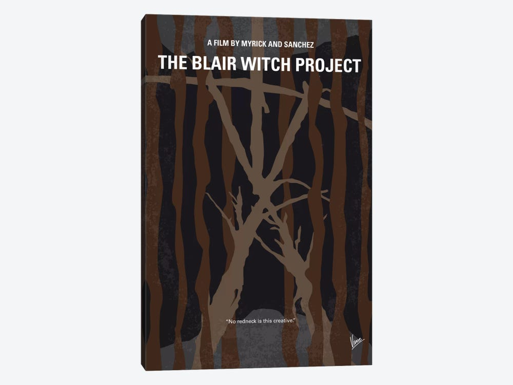 The Blair Witch Project Minimal Movie Poster by Chungkong 1-piece Canvas Print
