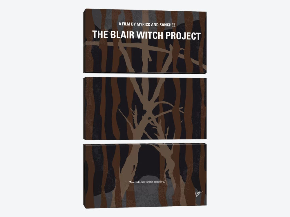 The Blair Witch Project Minimal Movie Poster by Chungkong 3-piece Canvas Art Print