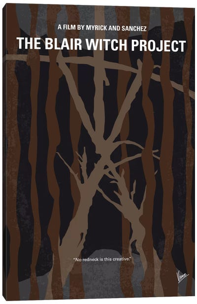 The Blair Witch Project Minimal Movie Poster Canvas Art Print