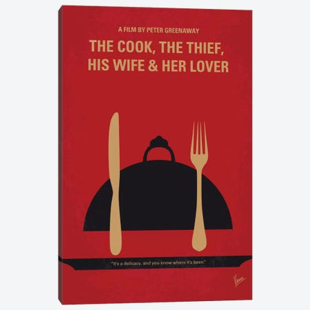The Cook, The Thief, His Wife & Her Lover Minimal Movie Poster Canvas Print #CKG641} by Chungkong Art Print