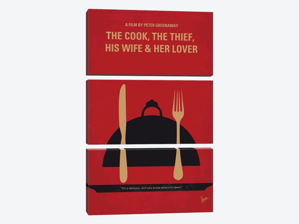 The Cook, The Thief, His Wife & Her Lover Minimal Movie Poster by Chungkong 3-piece Canvas Artwork