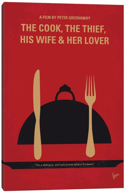 The Cook, The Thief, His Wife & Her Lover Minimal Movie Poster Canvas Art Print