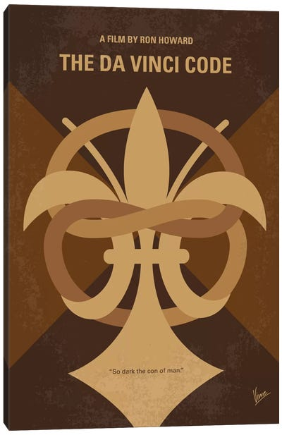 The Da Vinci Code Minimal Movie Poster Canvas Print #CKG642