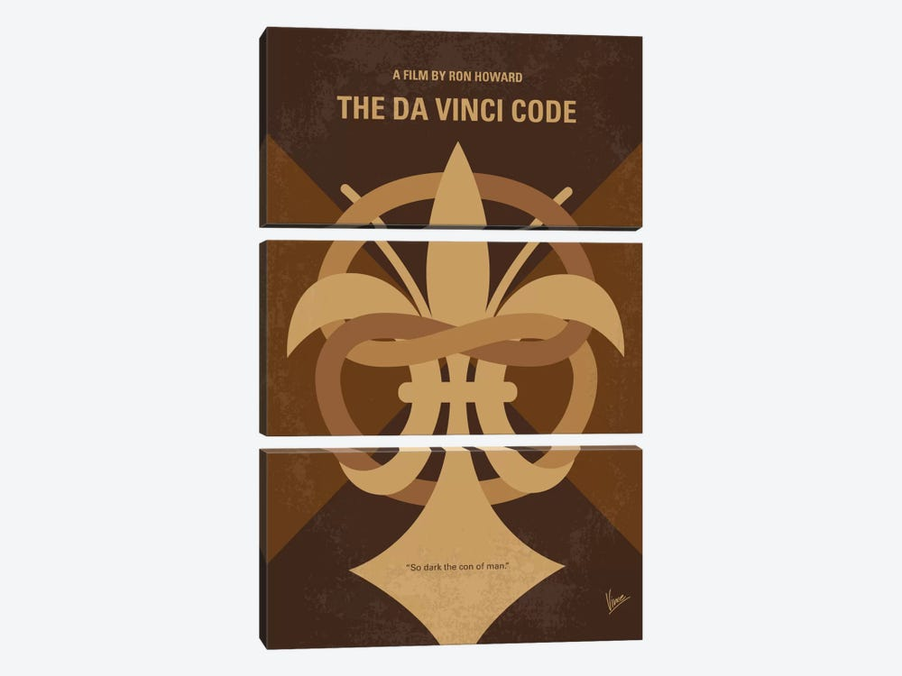 The Da Vinci Code Minimal Movie Poster by Chungkong 3-piece Canvas Art Print