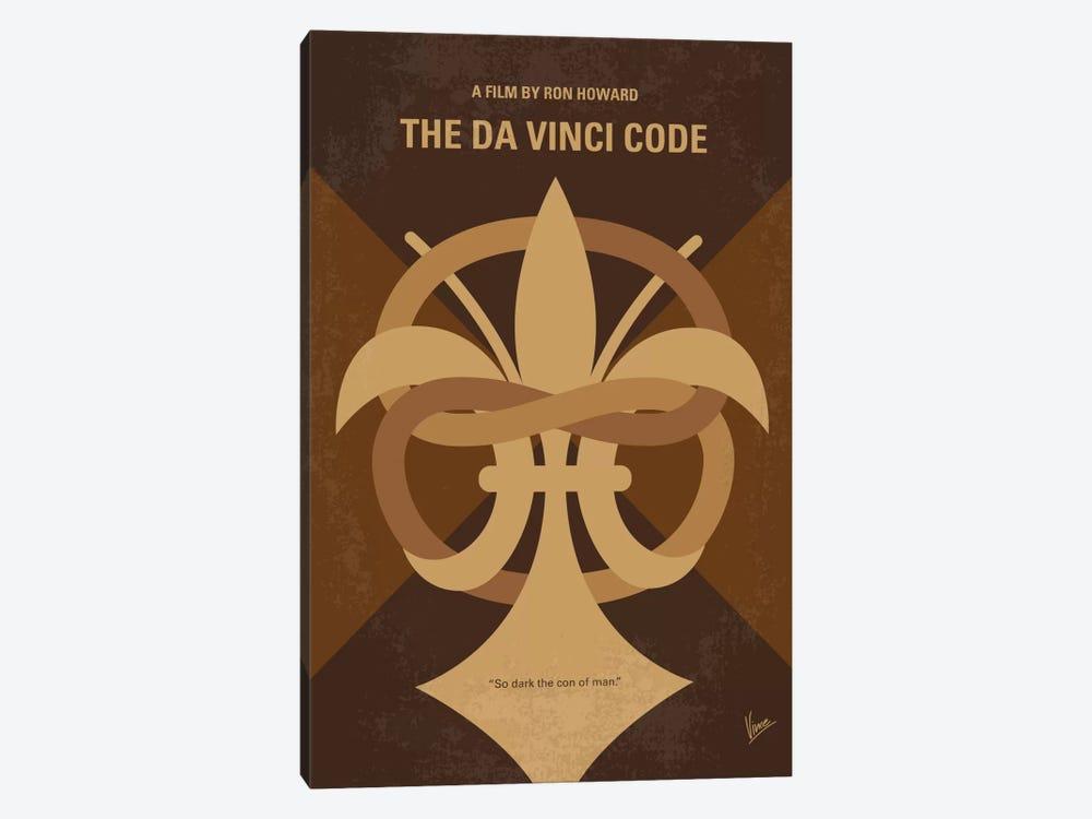 The Da Vinci Code Minimal Movie Poster by Chungkong 1-piece Canvas Print