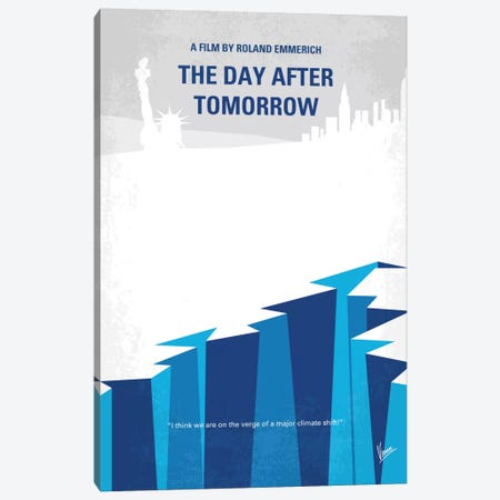 The Day After Tomorrow Minimal Movie Poster Canvas Print #CKG643} by Chungkong Art Print