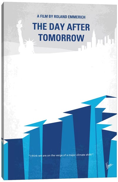 The Day After Tomorrow Minimal Movie Poster Canvas Art Print